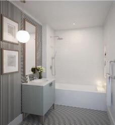 现代简约浴室装修效果图