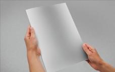 竖版画册封面样机贴图