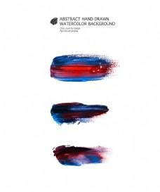 蓝红笔触图片 1