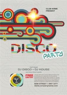彩色圆环曲线音乐海报图片