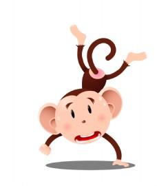 卡通精美猴子EPS