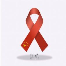 中国国旗丝带设计