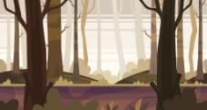 树林插画素材