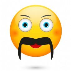 胡子可爱脸部表情图片
