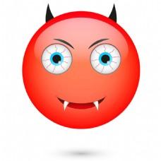 红色卡通人物表情图片图片