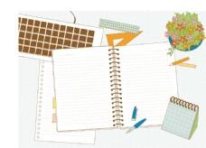 矢量书籍日记元素设计
