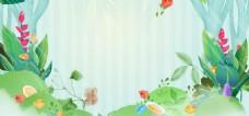 淘宝电商夏季上新植物小清新素材