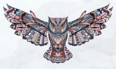 创意彩色老鹰背景图