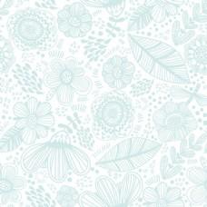 漂亮蓝色鲜花无缝背景图