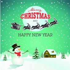 雪人圣诞节卡通矢量素材