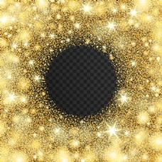 金色点光星星效果装饰花边背景