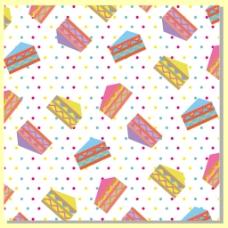 彩色蛋糕装饰图案背景