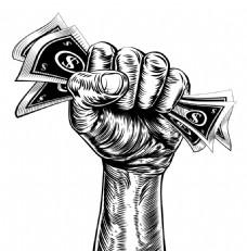 拳头励志海报矢量素材