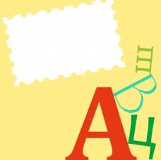简约字母信纸背景