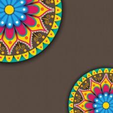 彩色花纹背景