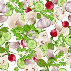 新鲜绿色蔬菜背景图