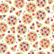 水果披萨无缝背景图