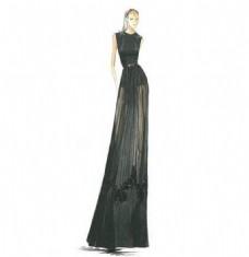 黑色长裙设计图