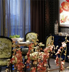 时尚餐厅餐桌椅子设计图