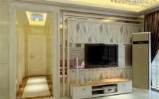 电视背景3D设计效果图