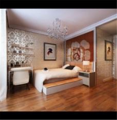 豪华卧室家装模型设计