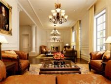 欧式华丽客厅3D模型