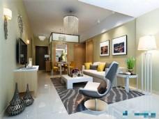 现代时尚客厅3D模型设计