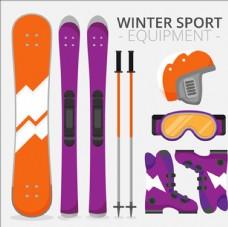 卡通滑雪运动用品配件