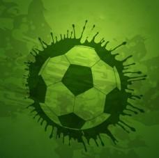 喷墨矢量足球创意海报元素