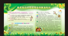 春季健康教育绿色展板
