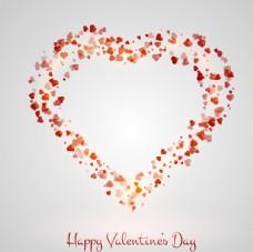 情人节背景与心脏与心