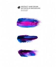 蓝紫水墨墨迹图片