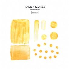 金色方形和圆形水墨图片
