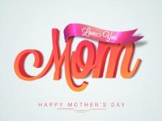 母亲节快乐矢量海报素材