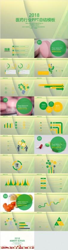 医药行业PPT总结模板