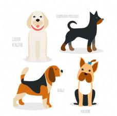 手绘犬种包