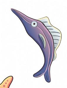 卡通海洋鲨鱼EPS