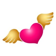 红心翅膀元素