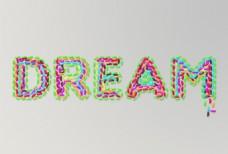 糖豆制成的艺术字