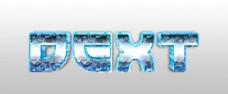 冰冻冰封金属字体