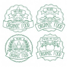 各种有机食品装饰标签