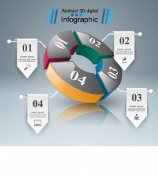 商业信息图表背景素材