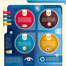 蓝色底纹商业信息创意设计图