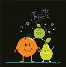 手绘可爱水果插画