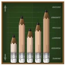 创意铅笔图表