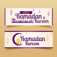 优雅的斋月伊斯兰装饰元素背景