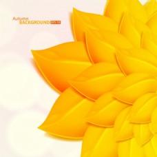 黄色叶子背景素材