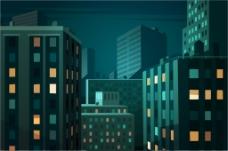 城市摩天大楼设计材料矢量