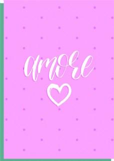 粉色點狀小清新卡片矢量素材