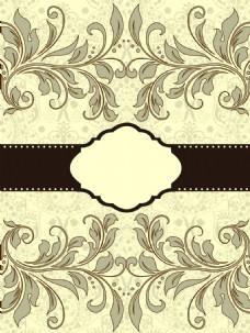 欧式花纹灰色底纹矢量素材